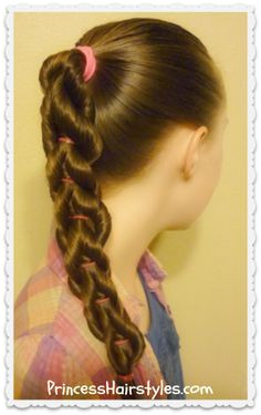 Twisted Pull Through Braid Hairstyle