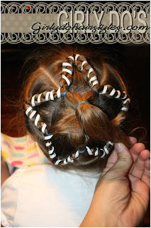 Ribbon Wrapped Star Fourth July Hairstyles from Girly Do Hairstyles Little Girl Hairstyles