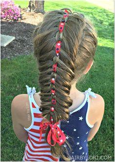 Chain Link Ribbon Fishtail Braid Fishtail Braid Hairstyles · 4th July