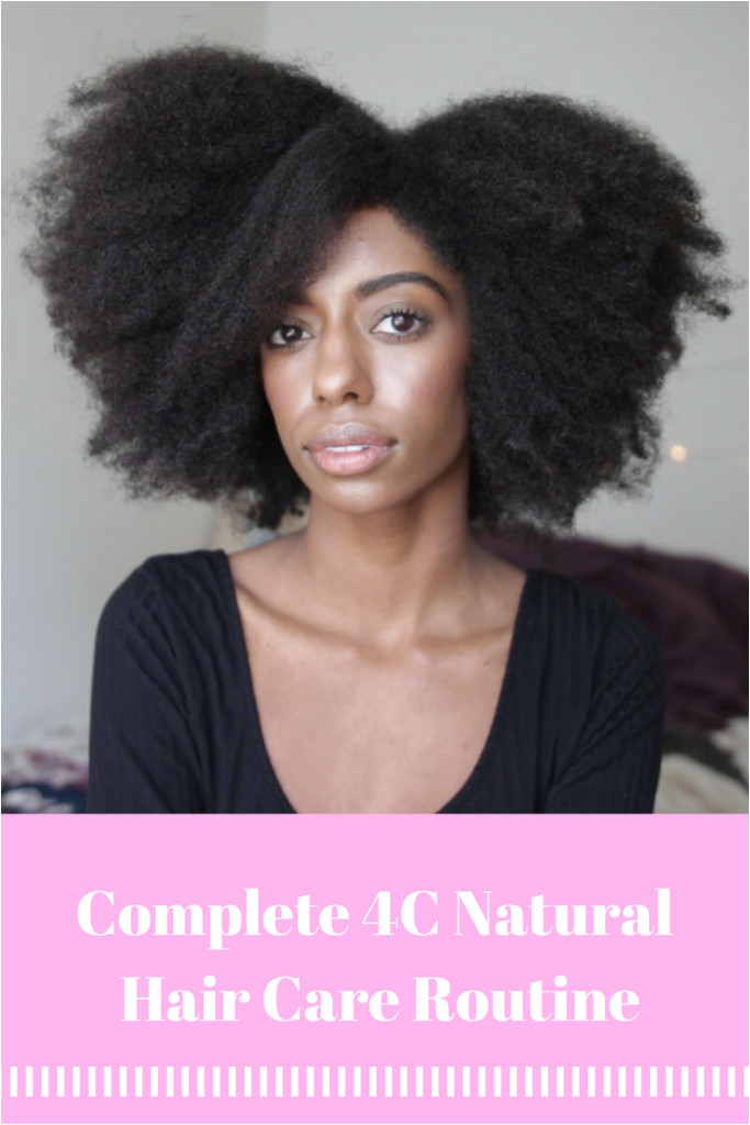 My plete 4c Natural Hair Care Routine Pre Poo Wash Day Twist Out & Night Routine Prettylittlefro