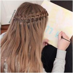 four strand waterfall braid Cool Braid Hairstyles Braided Hairstyles Tutorials Girl Hairstyles Pretty