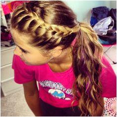 cute volleyball hair easy braid ponytail Softball Hairstyles Cute