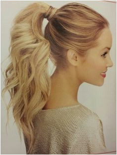 curled pony Cute Ponytails Perfect Ponytail Cute Hairstyles Hairstyle Ideas Simple Hairstyles