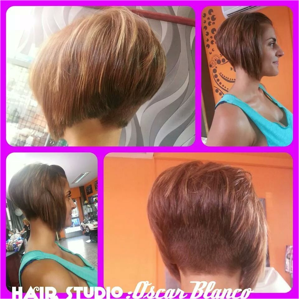 classic inverted A line bob cut