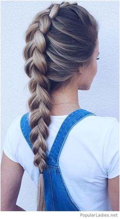 I want this braid Hair DayEasy School HairstylesHoliday HairstylesCute