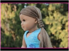 American Girl Doll Disney Frozen Elsa Hairstyle Inspired By Cutegirlshairstyles Ag Doll Hairstyles