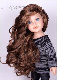 "Made to order OOAK Kelsey Meredith Alana Journey Girls 18"" doll Custom with lond light brown dark brown or purple hair doll"