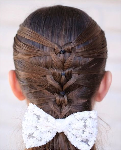 Mermaid Heart Braid Valentine s Day Hairstyle Instructions and Video Tutorial Cute Girls Hairstyles
