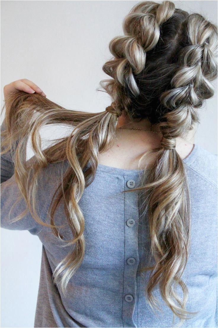 pull through braid pigtails perfect for day to day the gym or date night Check out this beautiful tutorial ponytails braids hairstyles cute