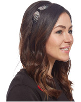 Black & Clear Bow Headband