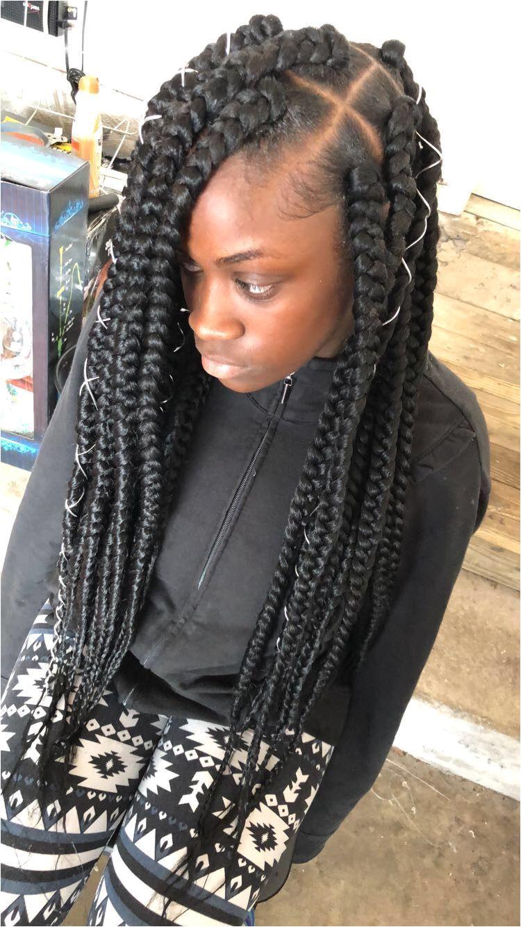 Jumbo box braids braidsasyoulikeit Box Braids Hairstyles African Hairstyles Black Girls Hairstyles
