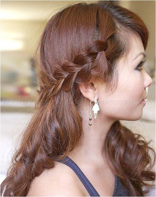braided hairstyles plaits braided hair half updo with braid
