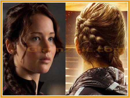 Cute Hairstyles Katniss Katniss Everdeen Braid Hairstyle Hunger Games Front and Back View