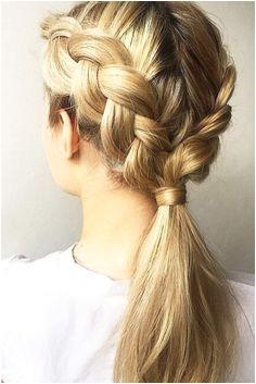 24 Ponytail Braid Brings in a Fresh Start Braided Bun HairstylesCute