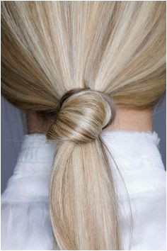 Knotted Low Ponytial Hairstyle Ponytail Styles Ponytail Hairstyles Cute Hairstyles Hair Ponytail