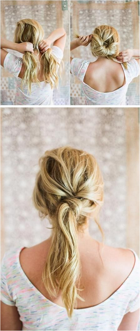 Make Your Hair Look Gorgeous By Following Our Tips And DIY Hair Tricks Twisted Ponytail