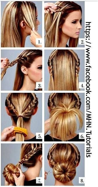 cute hairstyles I like the donut better than the sock bun
