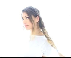 Rclbeauty101 take two random braids and braid them into a fishtail Really cute Heatless Hairstyles