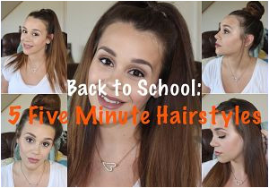 5 Easy Hairstyles for School Rclbeauty101 Hairstyles to Do for Cute Minute Hairstyles Back to School