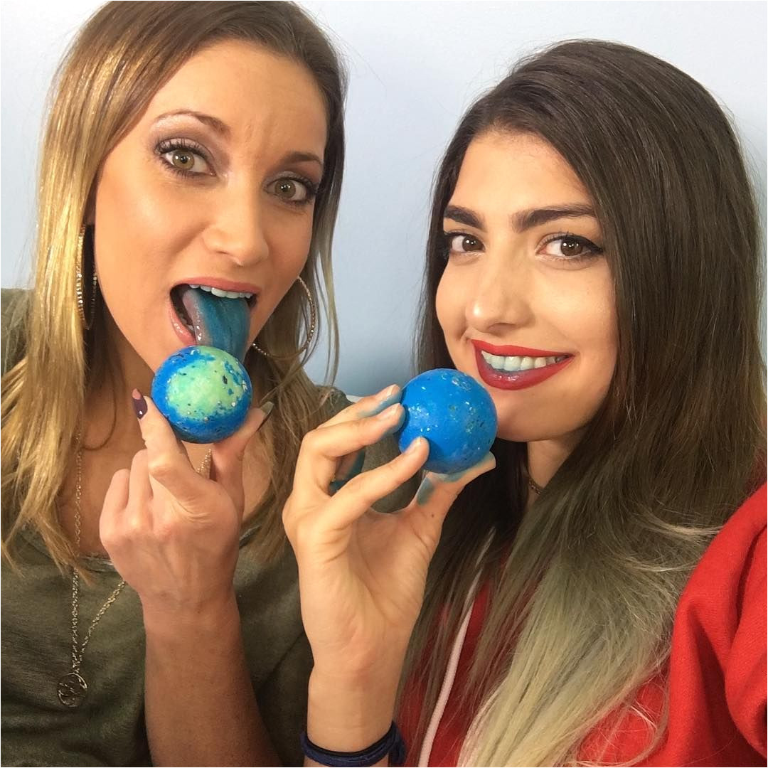 Totally got distracted from filming with rclbeauty101 when we got these beautiful blue jawbreakers blueballs