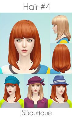 My Sims 4 Blog JSBoutique Hair 4 for Females Sims 5 Sims 4 Mm