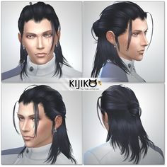 Kijiko Hair 019 Toyger Kitten retextured • Sims 4 Downloads The Sims Sims Cc
