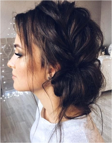 Cute Messy Bun Hairstyles Enchanting Hairstyle Wedding Awesome Messy Hairstyles 0d Wedding