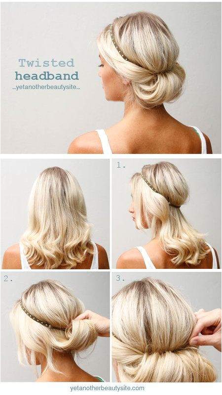 Headband Updo For more fashion and wedding inspiration visit Casual wedding hairstyle