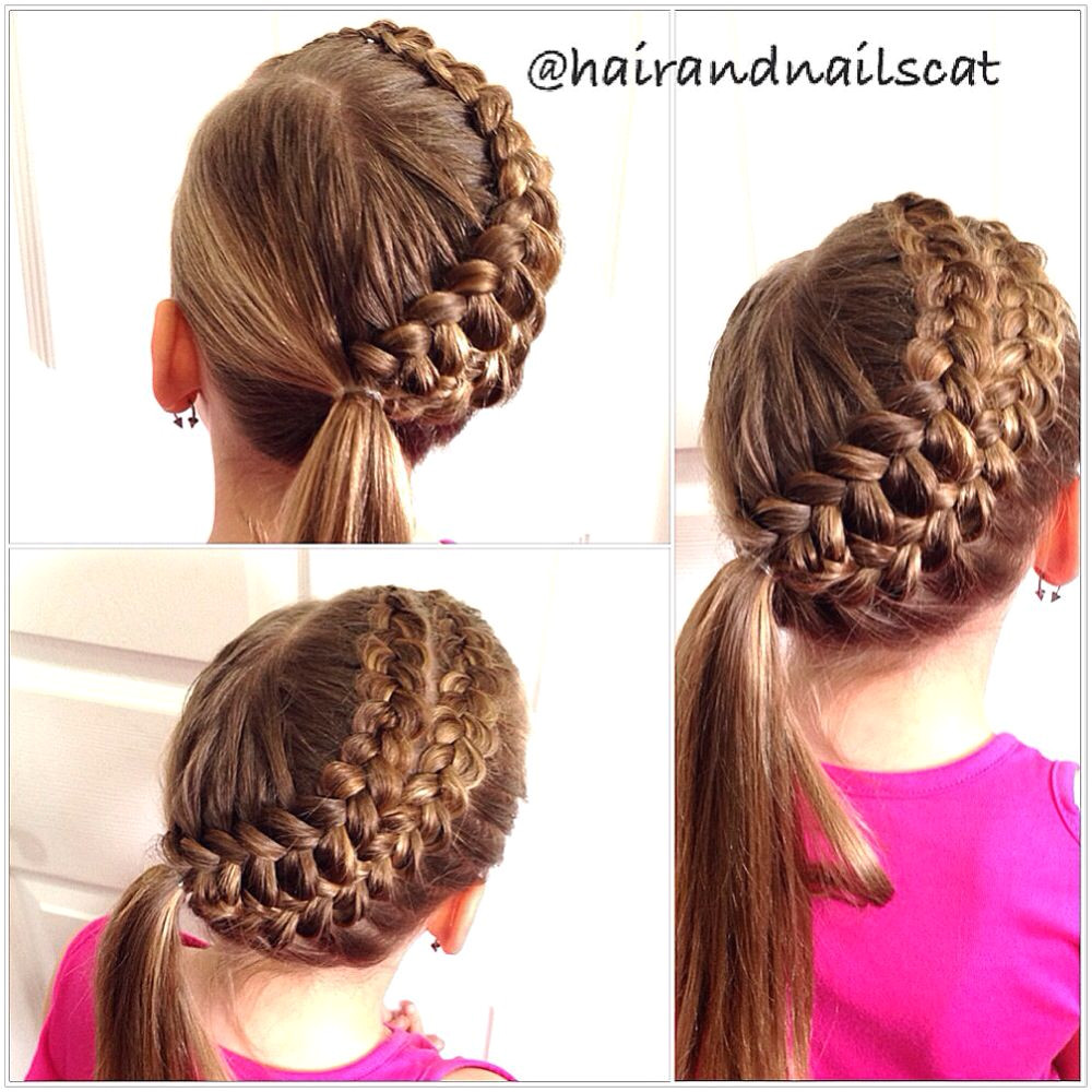 Double Dutch pancake braids Double Dutch pancake braids Cute Hairstyles