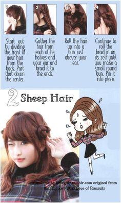 Cute Sheep Hair from littlegaly tumblr Korean Long Hair Korean Hairstyle Long