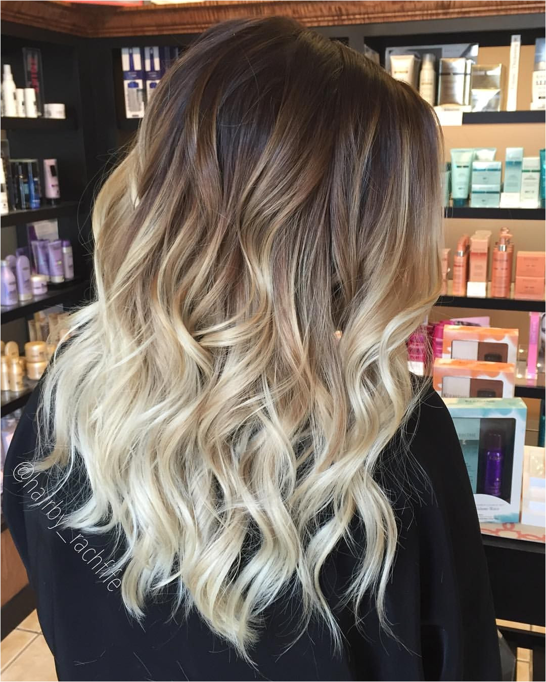 Blond Balayage Highlights by hairbyrachh