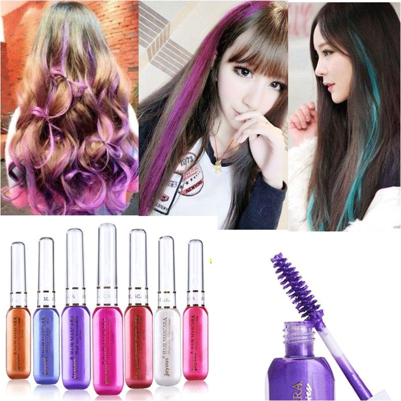 Sementara rambut warna warni maskara tidak beracun campuran rambut Warna Dye Highlights Salon M