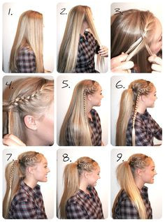 Cute for cheer High Ponytail Braid High Ponytail Tutorial Easy Hairstyles Sport