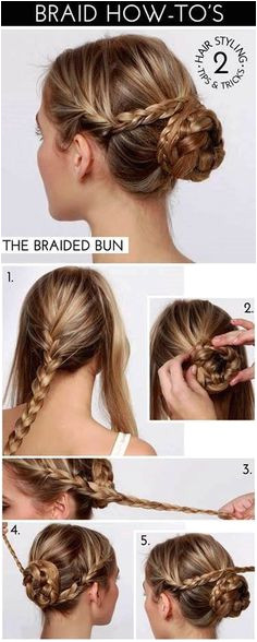 Braid on the sides Braided bun a fun hair style for a special event party or holiday The Braided Bun hair tutorial