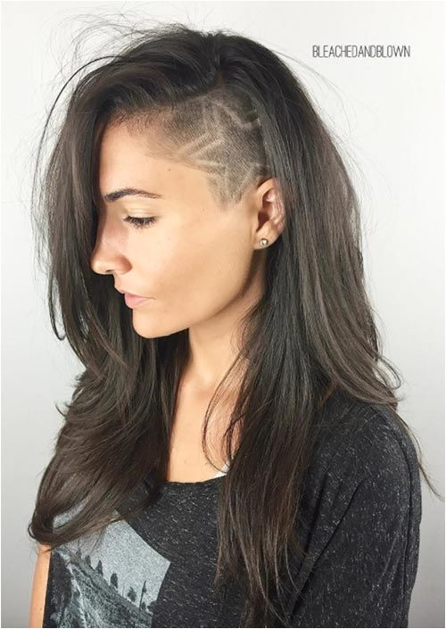 Different Hairstyles for Women with Long Hair Undercut Long Hair Long Undercut Hairstyles and Haircuts for Women
