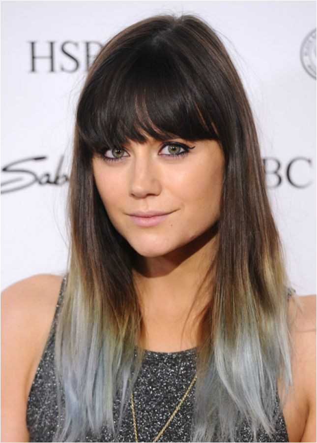 Spruce up your hair with grey ombre highlights