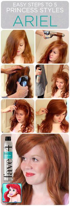 Halloween Hair Tutorials Disney Princess Styles Ariel Disney Hairstyles Disney Princess