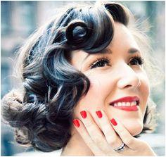 fingerwaves 1950s Hairstyles Hair Dos Vintage Curls Retro Curls Vintage