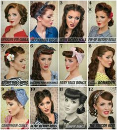 Gotta love the Rockabilly Vintage la s Pin Up Hairstyles1950s