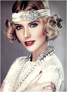 Bride s retro finger curls 20 s Gatsby bandeau bridal hair Toni Kami Wedding Hairstyles ♥ ➁ Wedding