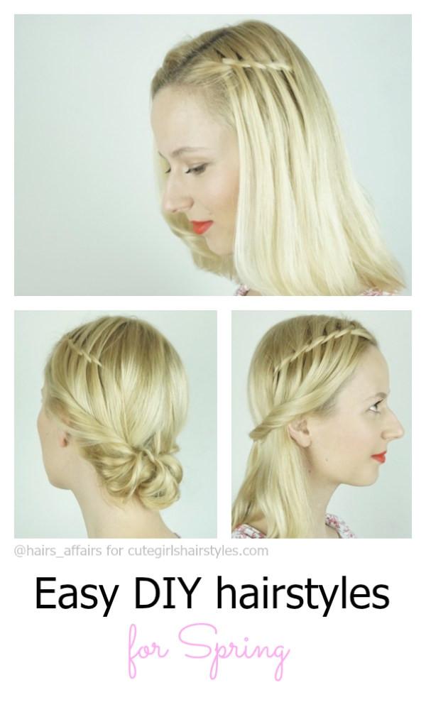 easy diy hairstyles spring