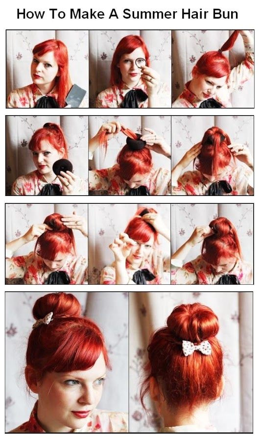 How To Make A Summer Hair Bun s and for Tumblr Pinterest and Twitter