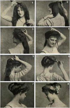Edwardian hairstyle long thick probably took hours to dry and style Historical Hairstyles Edwardian Hairstyles