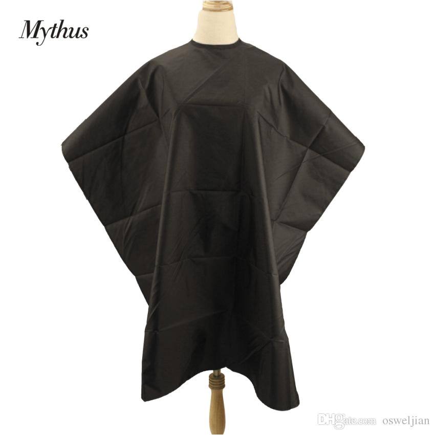 Salon Barber Cape Black Waterproof Hair Cutting Cape Wrap Gown Hairdresser Haircut Hairdressing Styling Apron Gown Hairdressing Cape Black Haircutting Gown