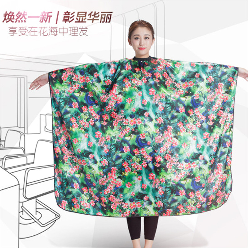 2018 New Adult Barber Cape Hair Cutting Printed Cape New Salon Barber Hairdressing Haircut Apron Cloth For Uni Haircolor Cape in Styling Accessories from