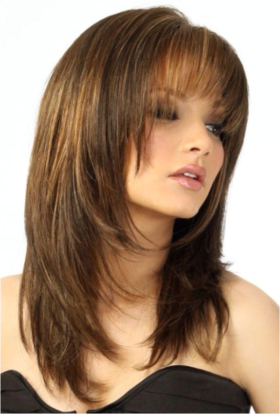 You want to have bangs but with a layered haircut No worries here s the solution