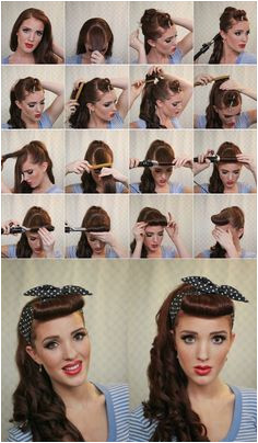 Crazy Retro Hairstyle Tutorials Fashion Diva Design girl hair styles This is so fantastic and cute