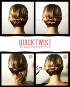 20 Ways To Take Your Short Hair To The Next Level BuzzFeed Mobile Quick Updo