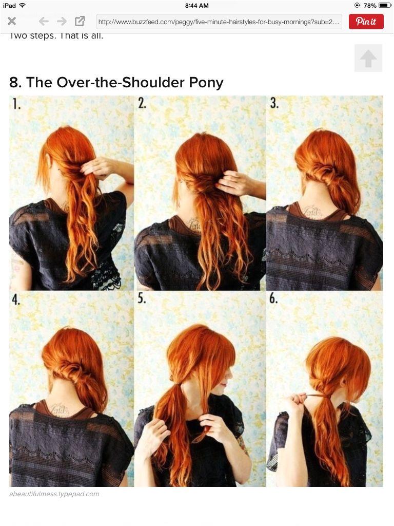 Over the shoulder ponytail Hair Dos Twisted Ponytail Side Ponytails Fancy Ponytail