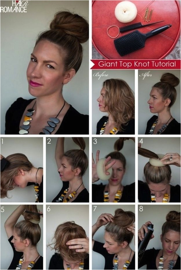 This gigantic topknot is so elegant and easy to do